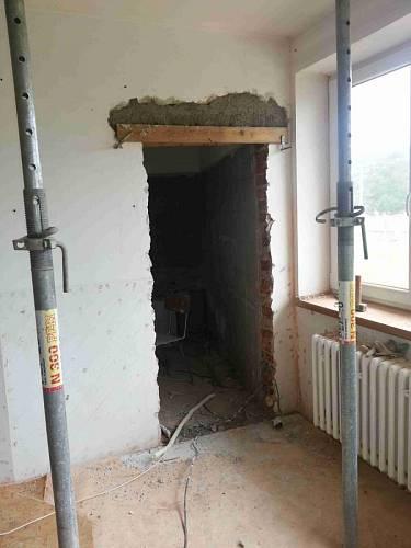 Nový vchod do koupelny