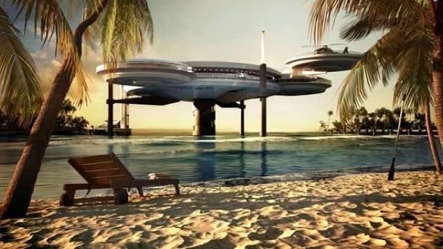 Vizualizace prvního podmořského hotelu v Dubaji