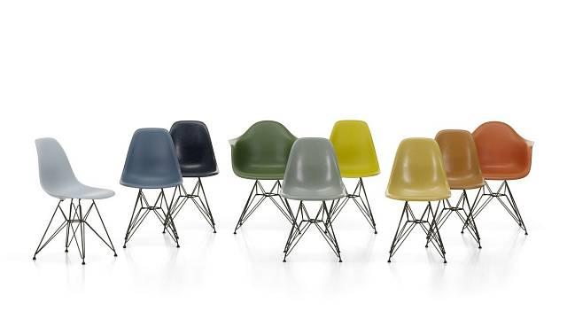 Židle ze skelných vláken a plastu DSR a DAR