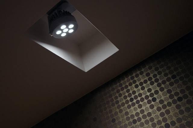 Osvětlení je v rámci pasivního domu samozřejmě diodové.