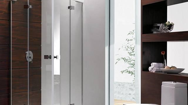 Bezrámový čtvrtkruhový výklopný sprchový kout Rox s rohovým vstupem, výrobce KS Line, rozměr: 90 x 90 x 190 cm, prodává Keramika Soukup za 13 990 Kč.