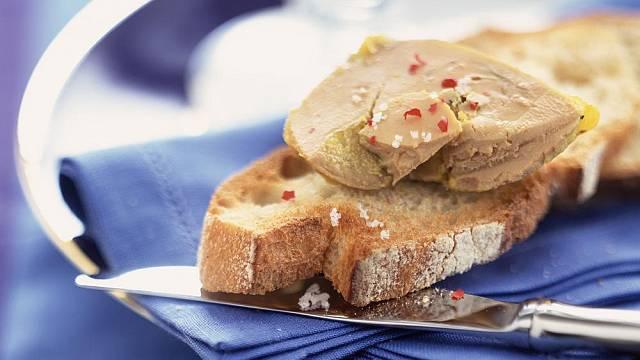 Foie gras na chlebu