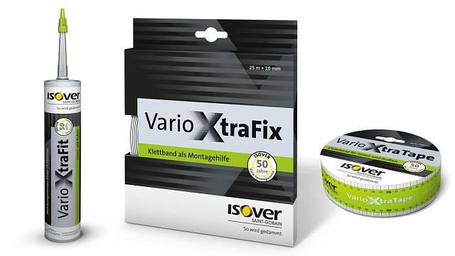 Systémové doplňky Isover VARIO®  Xtra – elastický těsnicí tmel a vysoce lepicí spojovací pásky
