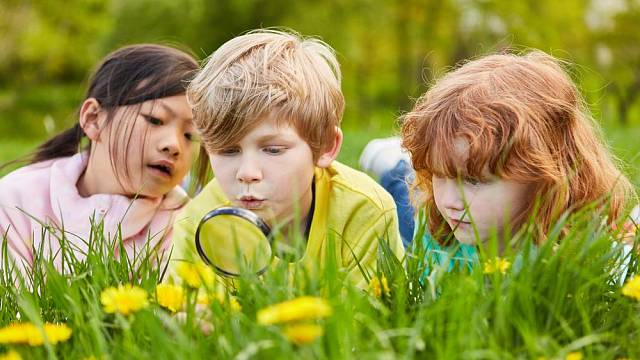 Pobyt venku lze spojit s poznáváním přírody.