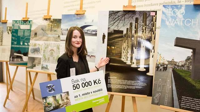 Vítězka 1. místa Viktorie Prokopová se soutěžním návrhem Steradián