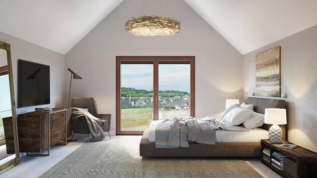 Dřevěné franouzské okno, lazura, borovice