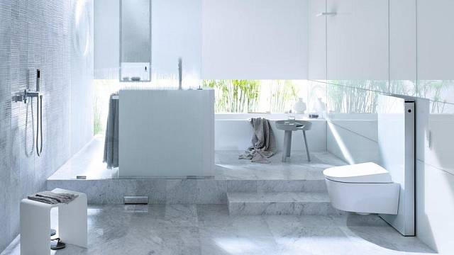 Nadčasový čistý design, to je Geberit AquaClean Sela.