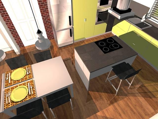 Návrh kuchyně: kontrastní žlutá 4