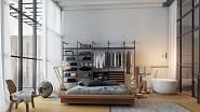 Prosklenné stěny oddělují historické části od užitkových částí apartmánů