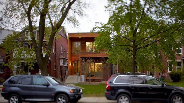 Úzký dům v Kanadě