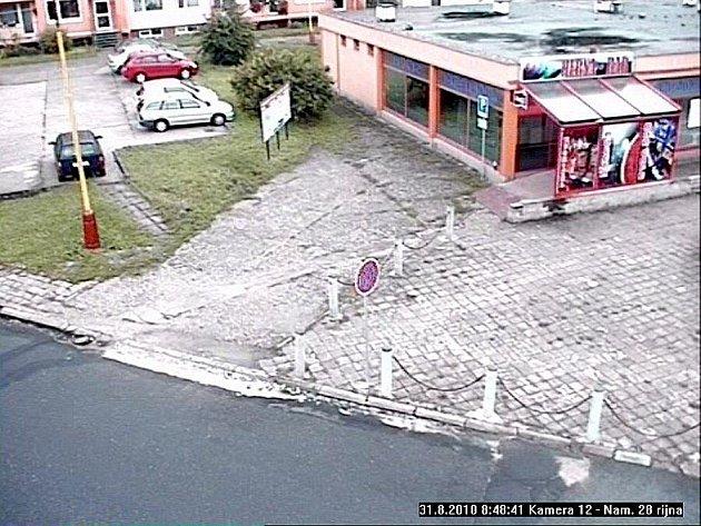 Pohled z další kamery v Roudnici nad Labem.