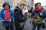 Připomínka 30. výročí sametové revoluce na náměstí v Litoměřicích