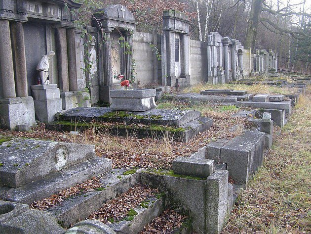 Poničené hroby.