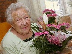 V sobotu 30. července oslavila obyvatelka Velemína Emilie Přechová 100. narozeniny.