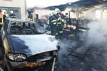 Páteční požár v Třebenicích