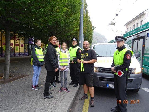 Akce s názvem Kontrola oprávněnosti vjezdu do centra města a správného přecházení se uskutečnila v rámci Evropského týdne mobility.
