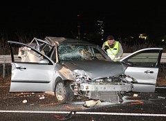 Čtvrteční nehoda na dálnici u Lovosic