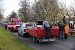 Hasiči a policisté hledají havarované letadlo v Labi u Křešic