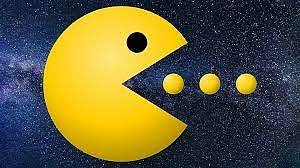 Postavička Pac-Man ze stejnojmenné počítačové hry.