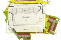 Projekt modernizace a dostavby multifunkční haly.