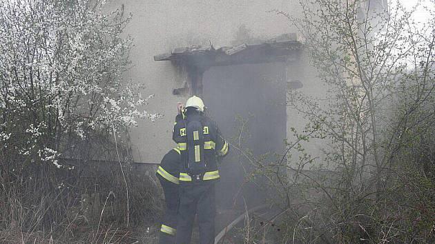 Požár v Bohušovicích.