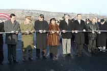 Slavnostní otevření Mostu Františka Chábery v Litoměřicích.
