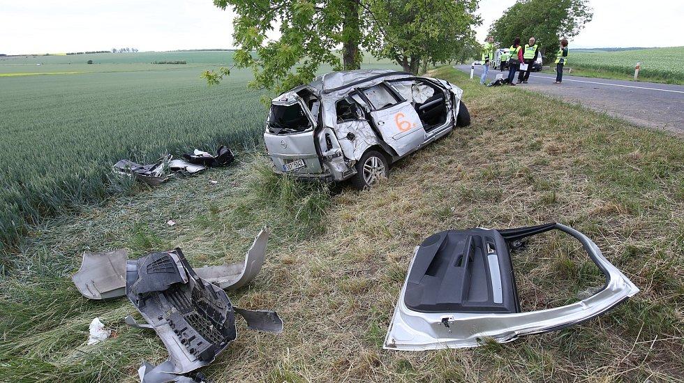 Tragická nehoda u Vrbic u Mšeného-lázní
