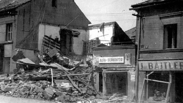 Roudnice po bombardování