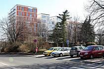 Pohled z Václavského náměstí směrem k parku.