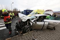 V Čížkovicích se srazila čtyři auta.