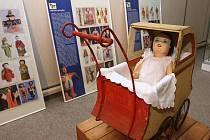 Výstava hraček v litoměřickém muzeu.