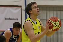 Basketbalový zápas mezi Litoměřicemi a Prostějovem, nadstavba A1 1. ligy 2018/2019, Adam Žampach