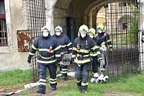 V Žižkových kasárnách v Terezíně se konalo cvičení integrovaného záchranného systému.