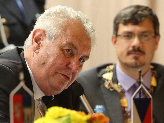 Prezident Miloš Zeman v Lovosicích