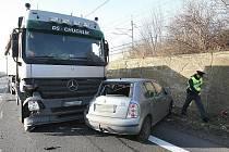 Dopravní nehoda u Lovosic, pondělí 30.1.2012.