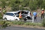 Na dálnici havarovala dvě auta. Zasahoval i vrtulník