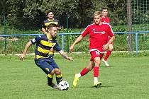 SK Liběšice (v tmavém) - FK Bílina (červení), I. A třída 2020/2021