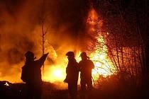 Požár v Novém Klapý.