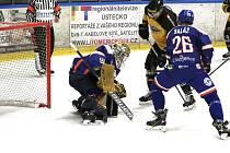 Momentka z předkola play off Litoměřice - Sokolov. Foto: Martina Kramerová, HC Stadion Litoměřice