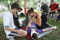 Mladí záchranáři ukázali své schopnosti.