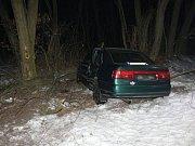 Policisté hledají svědky nehody, která se stala v pondělí 23. ledna v lesíku mezi obcemi Záluží a Dobříň