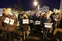 Demonstrace v Litoměřicích proti vládnutí premiéra Andreje Babiše