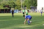 Fotbalisté Křešic (v zeleném) doma podlehli Roudnici 1:5.