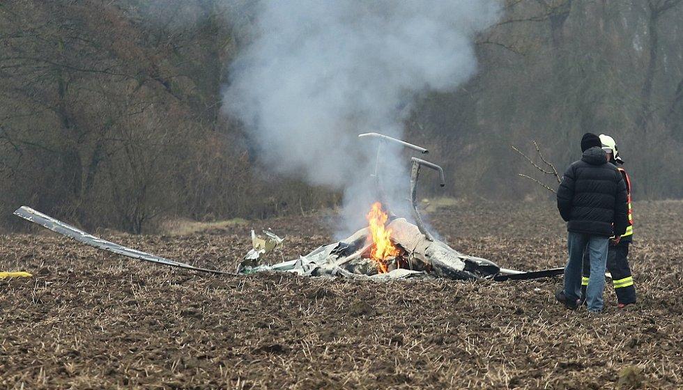 Nehoda vrtulníku u Bohušovic nad Ohří