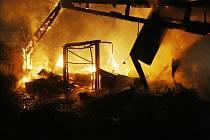 Požár drůbežárny v  Lovosicích