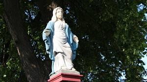 Svěcení rekonstruované Panny Marie v Libochovanech
