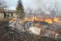 Požár u Třebenic.