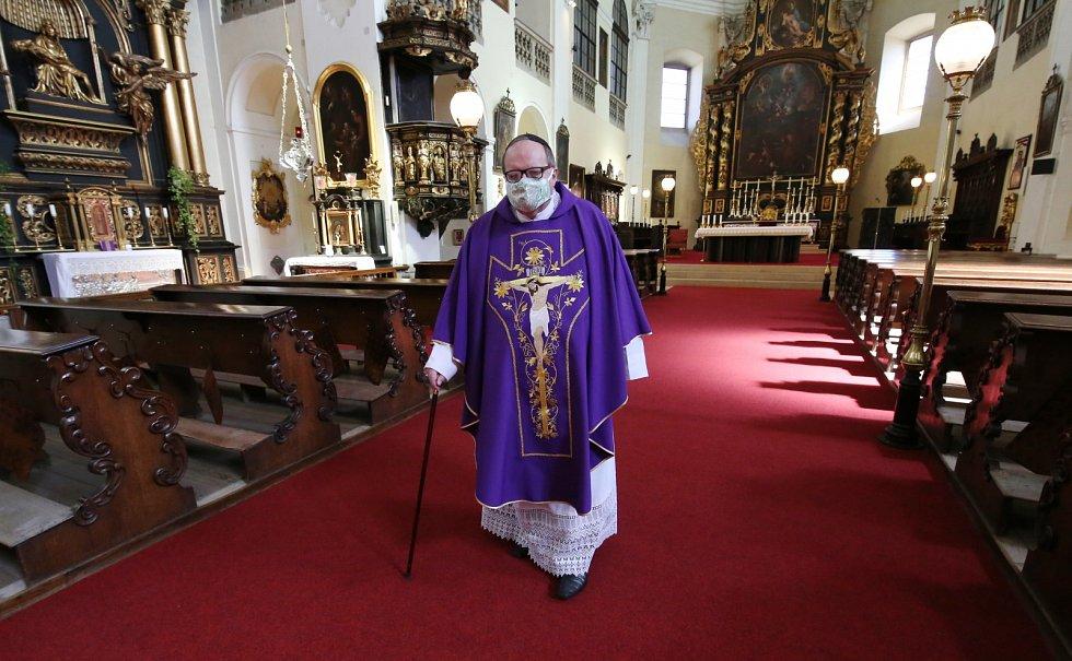 Probošt kapituly sv Štěpána v Litoměřicích Jiří Hladík bude mít o Velikonocích katedrálu prázdnou