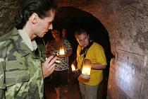 Prohlídka podzemních chodeb v Terezíně
