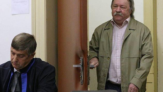 Lubomír Studnička u soudu v Litoměřicích.